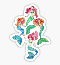 Merry Mermaids in Watercolor  Sticker