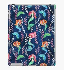 Merry Mermaids in Watercolor  iPad Case/Skin