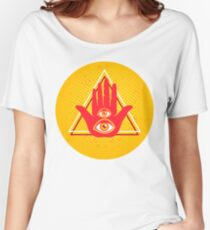 Hand and two eyes. Women's Relaxed Fit T-Shirt