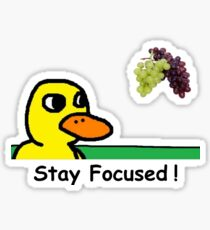 Stay Focused The Duck Song Got Any Grapes? Sticker