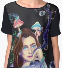 Down the Rabbit Hole  Women's Chiffon Top