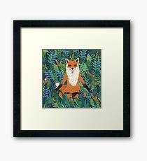 Fox Yoga Framed Print