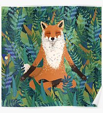 Fox Yoga Poster