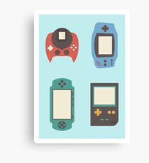 Video consoles Canvas Print