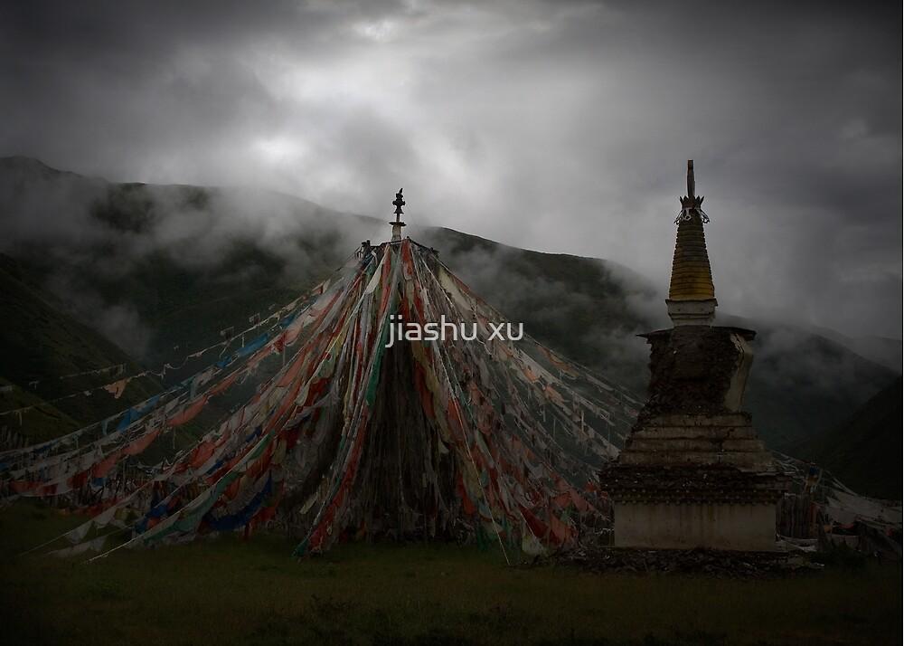 Tibetan Prayer Flag_2781p by jiashu xu