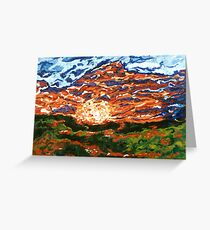 Steiner Ranch Sunset           Greeting Card