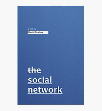 THE SOCIAL NETWORK / alternative typographic movie poster Photographic Print