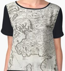 Antique Map - Coronelli's Scotland (1690) Women's Chiffon Top