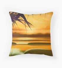 Pandanus Sunrise Throw Pillow