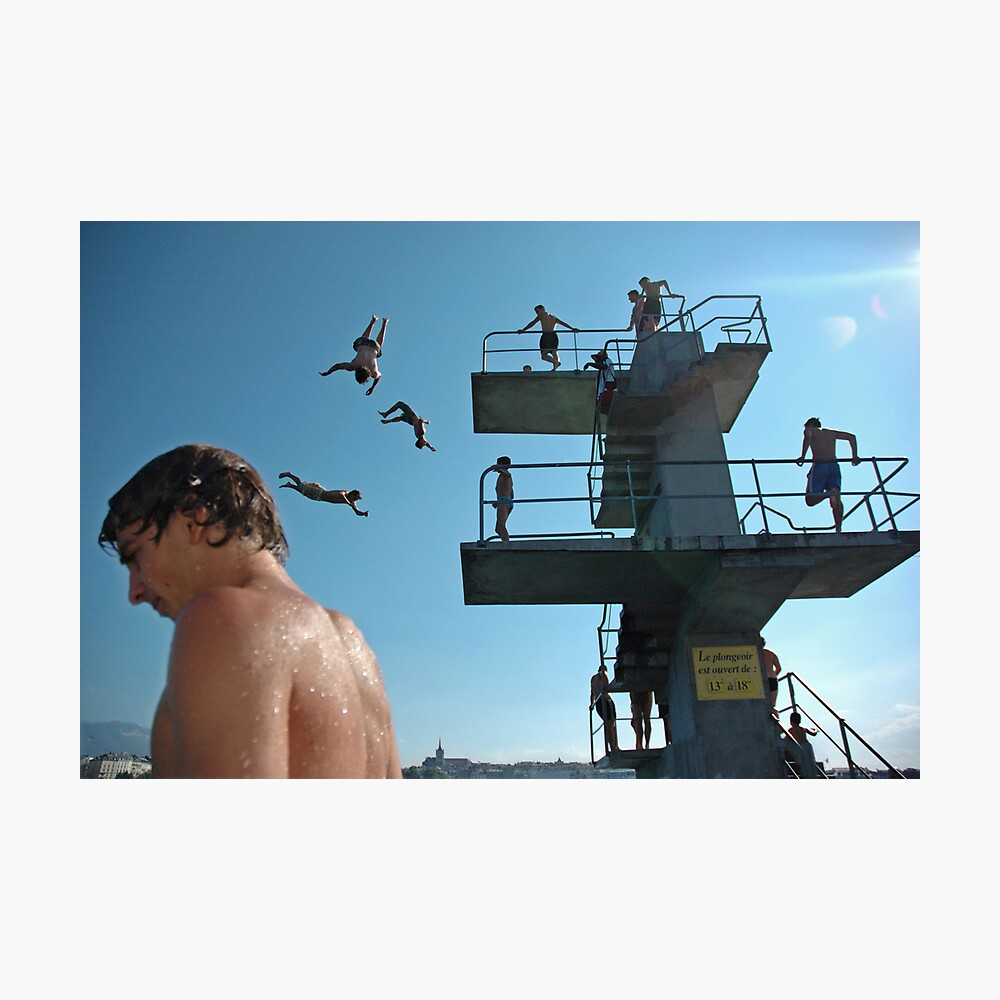 Geneva Lake Divers Photographic Print