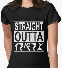 Straight Outta Qo´noS Womens Fitted T-Shirt