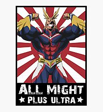 ALL MIGHT! PLUS ULTRA! Photographic Print
