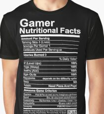 Gamer Nutritional Facts Graphic T-Shirt