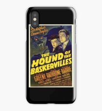 Sherlock Holmes Hound of the Baskervilles movie poster iPhone Case/Skin