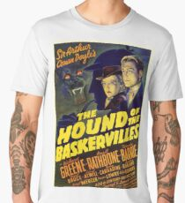 Sherlock Holmes Hound of the Baskervilles movie poster Men's Premium T-Shirt