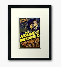 Sherlock Holmes Hound of the Baskervilles movie poster Framed Print