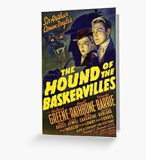 Sherlock Holmes Hound of the Baskervilles movie poster Greeting Card