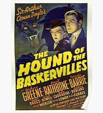 Sherlock Holmes Hound of the Baskervilles movie poster Poster