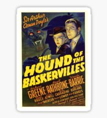 Sherlock Holmes Hound of the Baskervilles movie poster Sticker