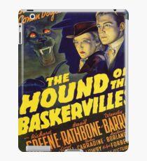 Sherlock Holmes Hound of the Baskervilles movie poster iPad Case/Skin