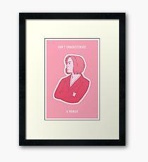 Feminist Dana Scully Framed Print