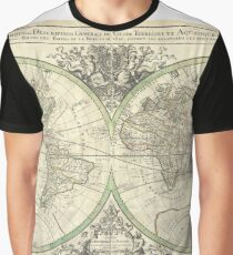 Antique Map - Sanson's Map of the World (1691) Graphic T-Shirt