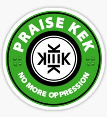 Praise KEK - No more oppression. Sticker