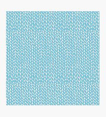 Hand Knit Sky Blue Photographic Print