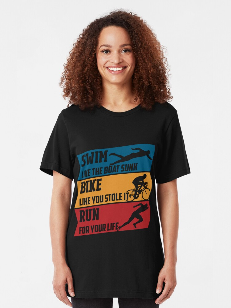 Alternative Ansicht von Swim - Run - Bike Slim Fit T-Shirt