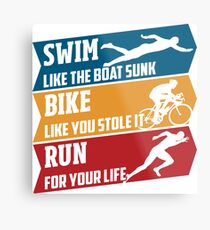 Swim - Run - Bike Metallbild
