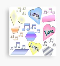 Love and Music Canvas Print