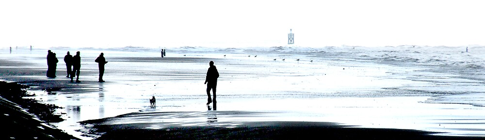 Walk on a winter beach by Bev Evans