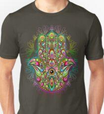 Hamsa Hand Psychedelic Amulet  Unisex T-Shirt