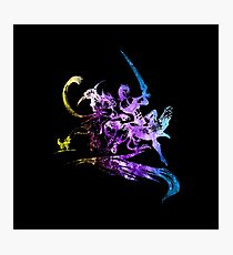 Final Fantasy X-2 logo universe Photographic Print