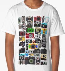 Pixelated Camerass Long T-Shirt