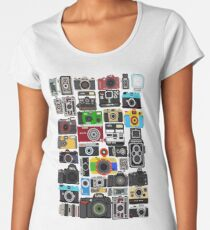 Pixelated Camerass Women's Premium T-Shirt
