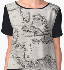 Antique Map - Danckerts' Florida and Central America (1696) Chiffon Top