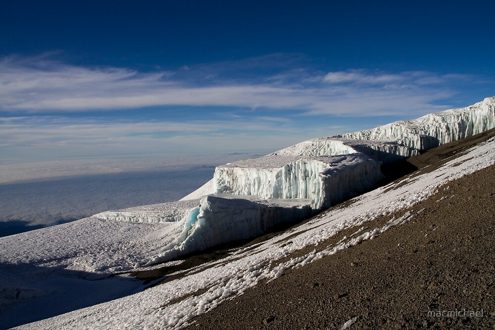 The top of mount Kilimanjaro by macmichael