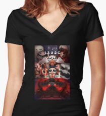 The Binding of Isaac Artwork Women's Fitted V-Neck T-Shirt