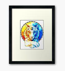 Zen Tiger Framed Print