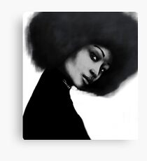 Afro Lean Canvas Print