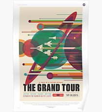 Grand Tour Space Travel Poster Poster