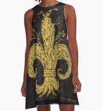 Gold Fleur De Lys A-Line Dress