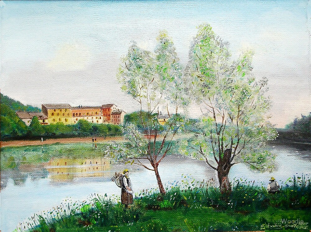 French Scene after Corot by Woodie