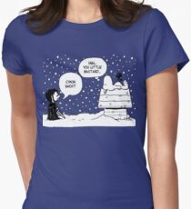 Charlie Snow/Jon Brown and his dog/Direwolf Women's Fitted T-Shirt