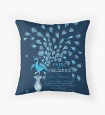 Paisley Peacock Pride and Prejudice: Classic Throw Pillow