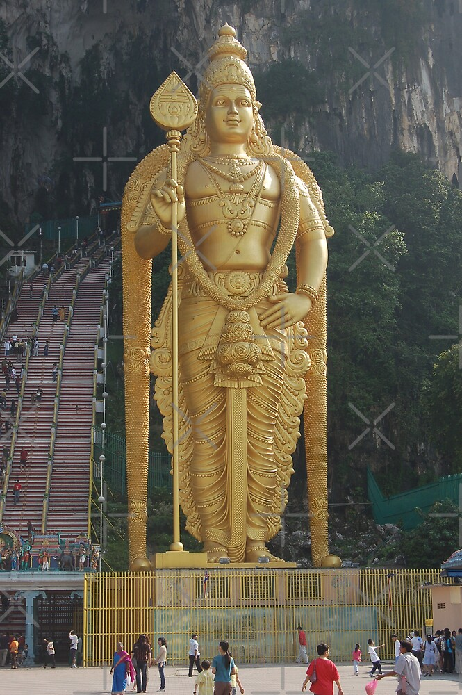 Golden statue of Lord Murugan  by ApeArt