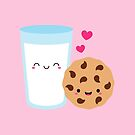 Happy Cute Milk Glass and Cookie by mycutelobster