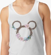 Character Inspired Watercolor Wreath - Spring Tank Top