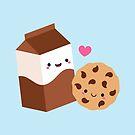 Kawaii Chocolate Milk Carton and Cookie by mycutelobster